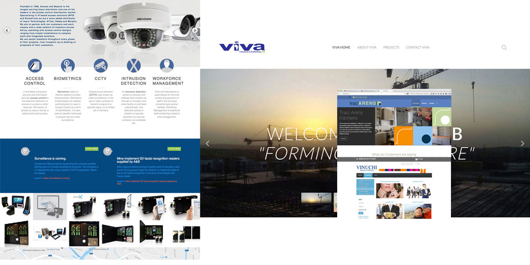 Web design collage